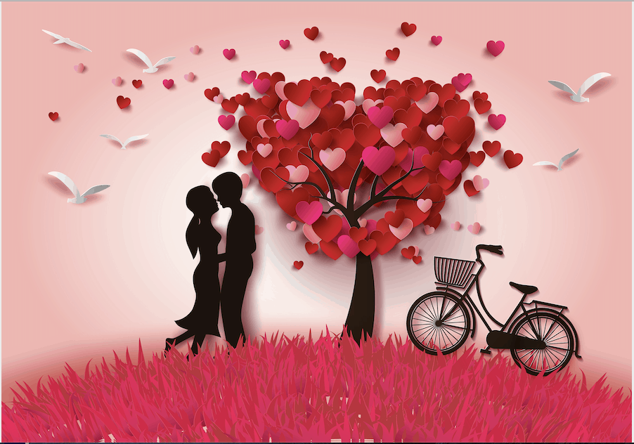 loving-couple-hearts-tree